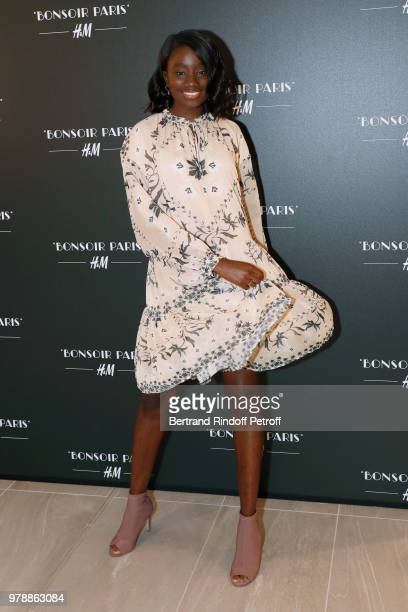 Actress Karidja Toure attends the HM Flaship Opening Party as part of Paris Fashion Week on June 19 2018 in Paris France