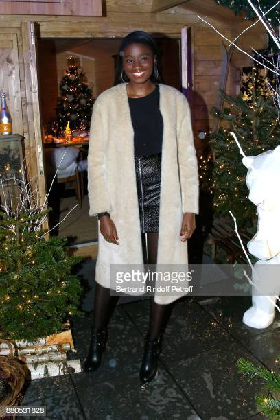 Actress Karidja Toure attends the Inauguration of the 'Chalet Les Neiges 1850' on the terrace of the Hotel 'Barriere Le Fouquet's Paris' on November...