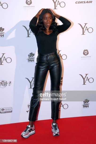 Actress Karidja Toure attends the 'YAO' Paris Premiere at Le Grand Rex on January 15 2019 in Paris France