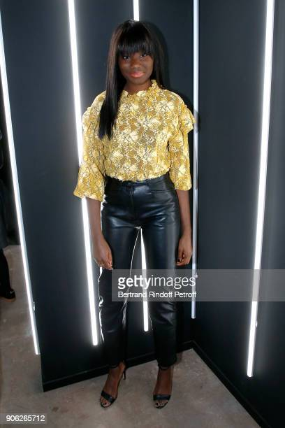 Actress Karidja Toure attends the 'YSL Beauty Hotel' event during Paris Fashion Week Menswear Fall/Winter 20182019 on January 17 2018 in Paris France