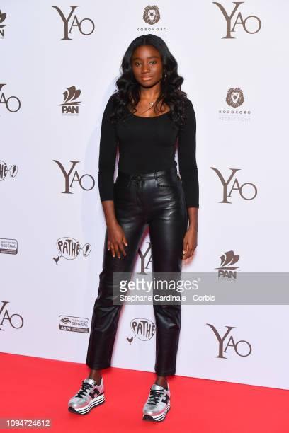 Actress Karidja Toure attends 'Yao' Paris Premiere at Le Grand Rex on January 15 2019 in Paris France