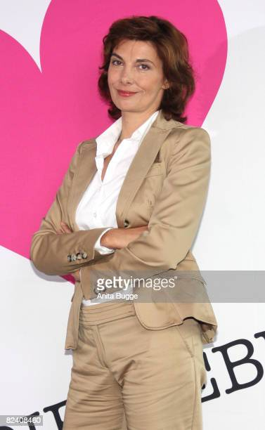 Actress Karin Kienzer attends a photocall to the new German television SAT1 telenovela 'Anna und die Liebe' on August 18 2008 in Berlin Germany