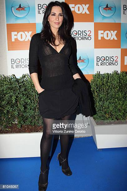 Actress Karin Proia attends the 'Boris 2' Party Launch Organized by Fox TV on May 09 2008 in Milan Italy