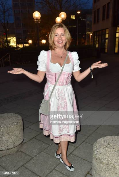 Actress Karin Thaler during Trachtentrends 2018 at Sheraton on April 12 2018 in Munich Germany