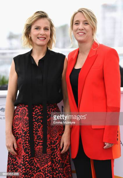 Actress Karin Viard and director Andrea Bescond attend the photocall for 'Little Tickles ' during the 71st annual Cannes Film Festival at Palais des...