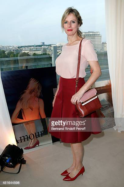 Actress Karin Viard attends the launching of Chloe new Perfume 'Love Story' Held at Institut du Monde Arabe on July 2 2014 in Paris France
