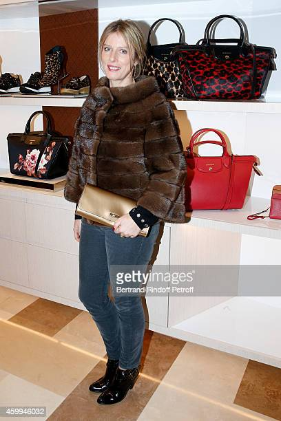 Actress Karin Viard attends the Longchamp Elysees 'Lights On Party' Boutique Launch on December 4 2014 in Paris France