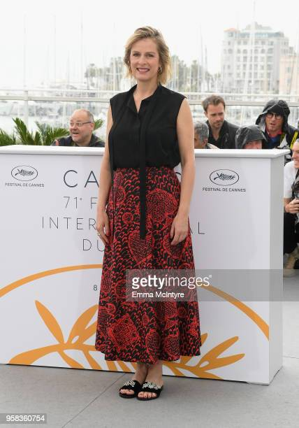 Actress Karin Viard attends the photocall for 'Little Tickles ' during the 71st annual Cannes Film Festival at Palais des Festivals on May 14 2018 in...