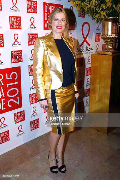 Actress Karin Viard attends the Sidaction Gala Dinner 2015 at Pavillon d'Armenonville on January 29 2015 in Paris France