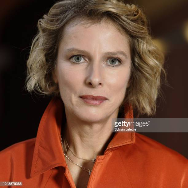 Actress Karin Viard is photographed for Self Assignment on September 2018, in Lille, France.