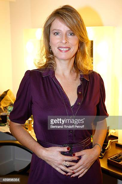 Actress Karin Viard presents the movie 'La famille Belier' during the 'Vivement Dimanche' French TV Show special Album 'La bande a Renaud volume 2'...