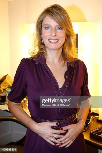 Actress Karin Viard presents the movie 'La famille Belier' during the 'Vivement Dimanche' French TV Show special Album 'La bande a Renaud volume 2'...
