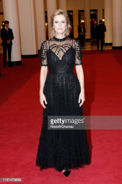 """Actress Karin Viard, winner of the award for Best Supporting Actress for """"Les Chatouilles"""", poses during the Cesar Film Awards 2019 at Salle Pleyel..."""