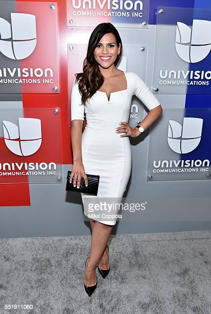 Actress Karina Banda attends Univision's 2016 Upfront Red Carpet at Gotham Hall on May 17 2016 in New York City