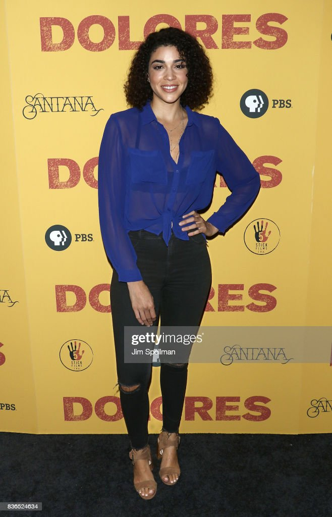 Actress Karina Ortiz attends the 'Dolores' New York premiere at The Metrograph on August 21, 2017 in New York City.