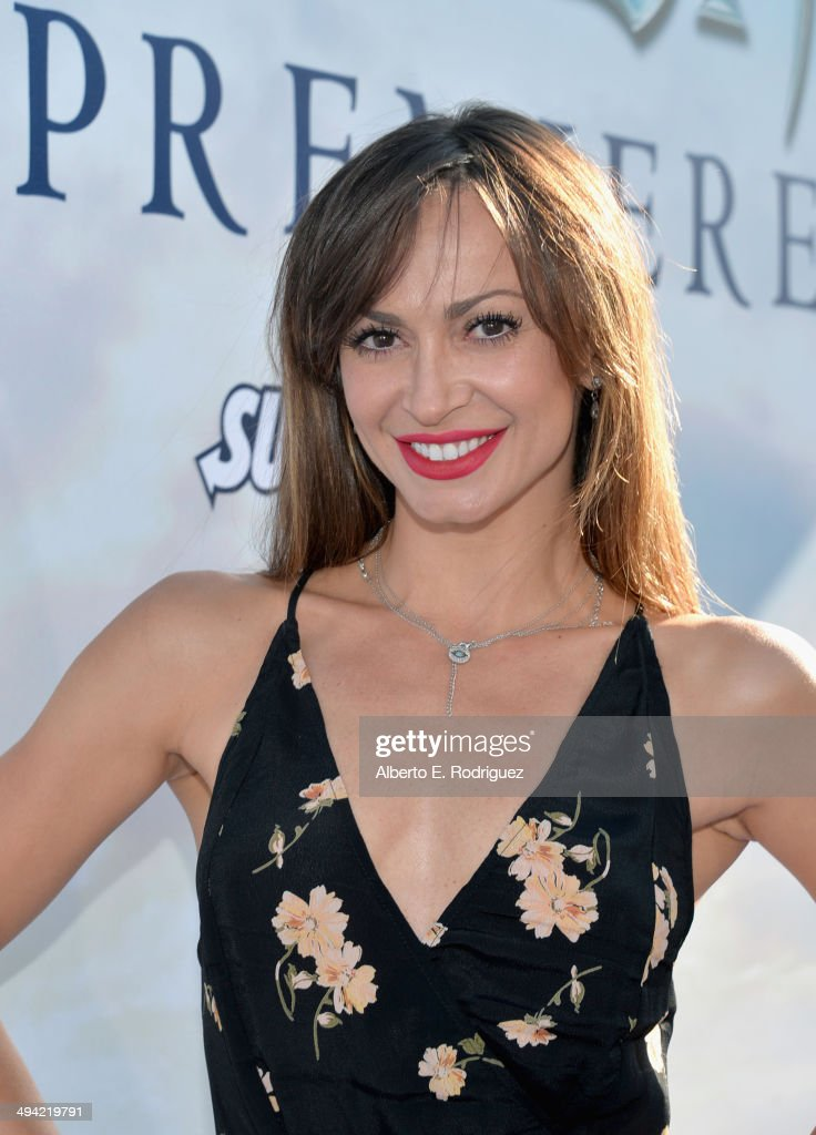Actress Karina Smirnoff attends the World Premiere of Disney's 'Maleficent', starring Angelina Jolie, at the El Capitan Theatre on May 28, 2014 in Hollywood, California.