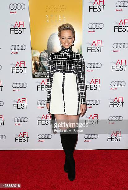 Actress Karine Vanasse attends a special screening of 'Mommy' during the AFI FEST 2014 presented by Audi at Dolby Theatre on November 12 2014 in...