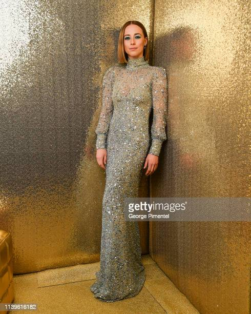 Actress Karine Vanasse poses inside the 2019 Canadian Screen Awards Portrait Studio held at Sony Centre for the Performing Arts on March 31 2019 in...
