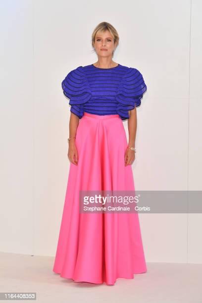 Actress Karine Viard attends the 71th Monaco Red Cross Ball Gala on July 26 2019 in Monaco Monaco