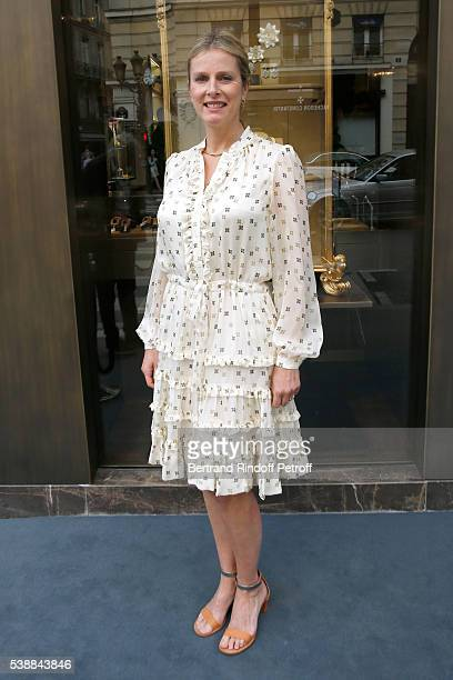Actress Karine Viard attends the Opening of the Boutique Buccellati situated 1 Rue De La Paix in Paris, on June 8, 2016 in Paris, France.
