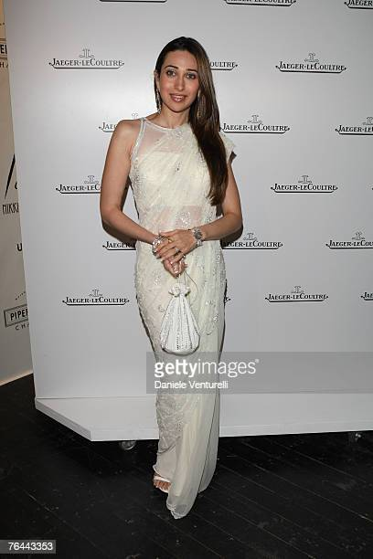 Actress Karisma Kapoor attends the Jaeger Le Coultre Host Celebration Party in Venice during day 3 of the 64th Venice Film Festival on August 31,...
