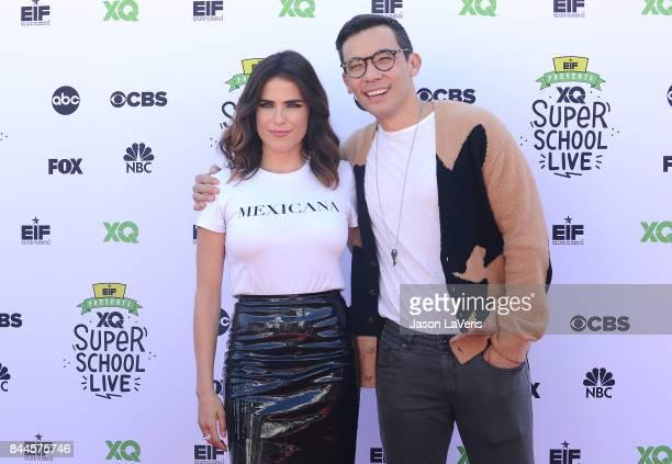 Actress Karla Souza and actor Conrad Ricamora attend XQ Super School Live at The Barker Hanger on September 8 2017 in Santa Monica California