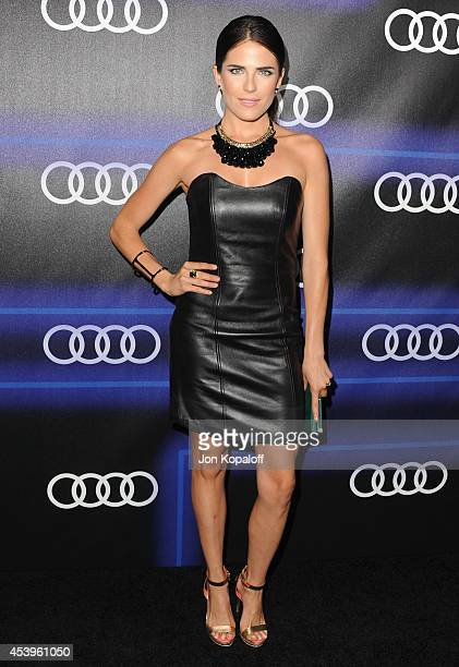 Actress Karla Souza arrives at Audi Emmy Week Celebration at Cecconi's Restaurant on August 21 2014 in Los Angeles California