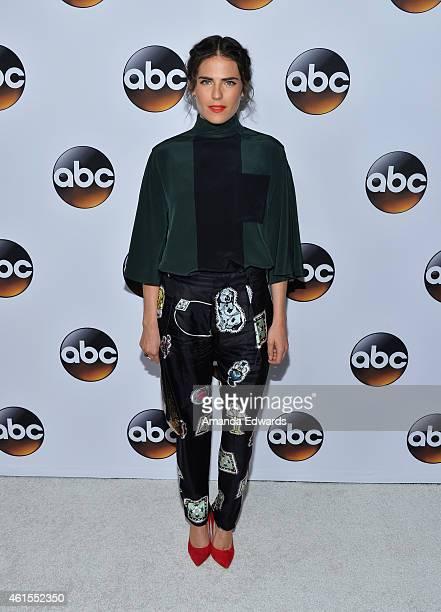 Actress Karla Souza arrives at the ABC TCA 'Winter Press Tour 2015' Red Carpet on January 14 2015 in Pasadena California