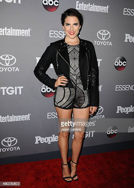 Actress Karla Souza attends ABC's TGIT premiere event on September 26 2015 in West Hollywood California