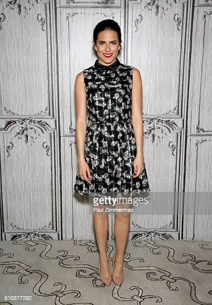 Actress Karla Souza attends AOL Build Speaker Series Karla Souza at AOL Studios In New York on February 15 2016 in New York City