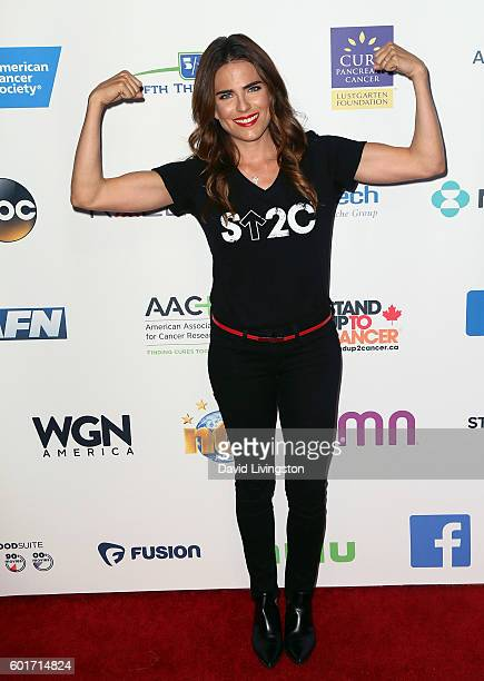 Actress Karla Souza attends Hollywood Unites for the 5th Biennial Stand Up To Cancer a program of the Entertainment Industry Foundation at Walt...