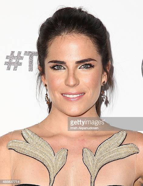 Actress Karla Souza attends the TGIT Premiere event at Palihouse on September 20 2014 in West Hollywood California