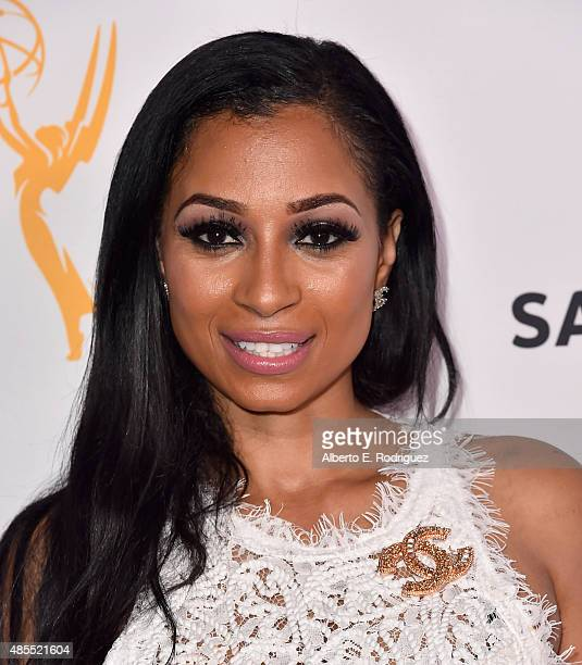 Actress Karlie Redd attends a cocktail party celebrating dynamic and diverse nominees for the 67th Emmy Awards hosted by the Academy of Television...