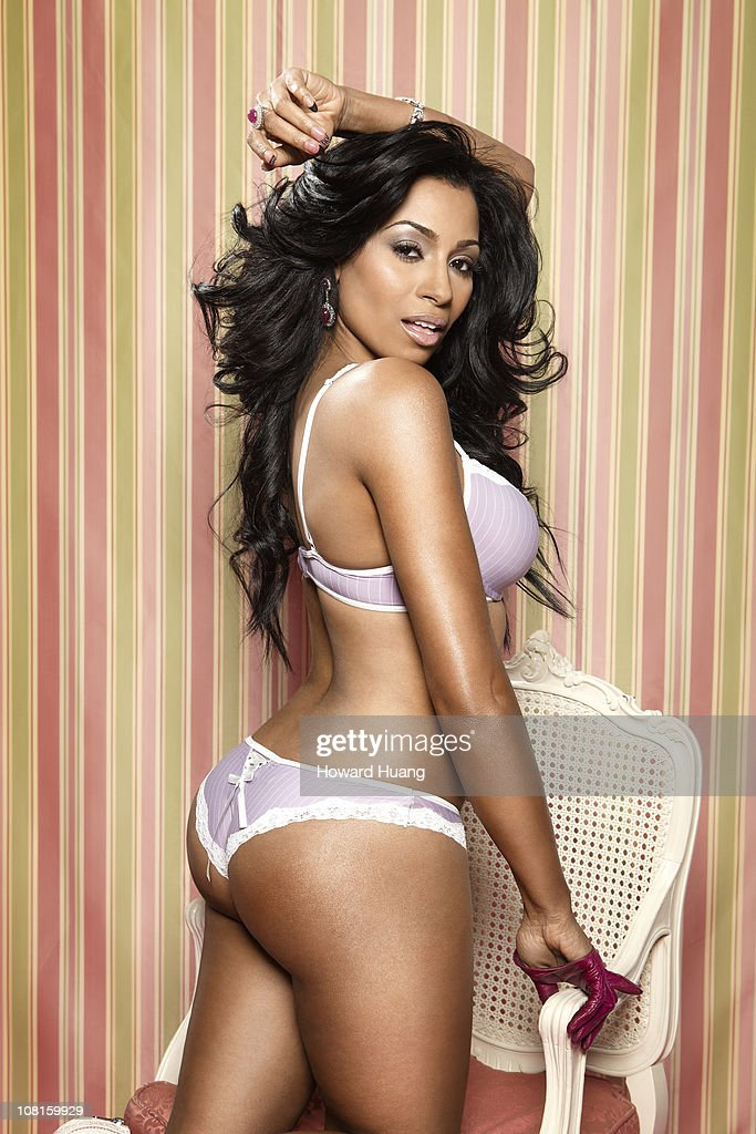 Actress Karlie Redd Poses At A Portrait Session For Black Men Magazine On April