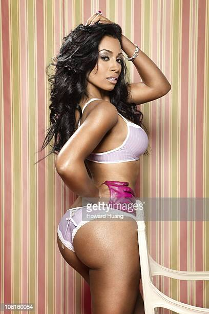 Actress Karlie Redd poses at a portrait session for Black Men Magazine on April 01 2010 in New York New York