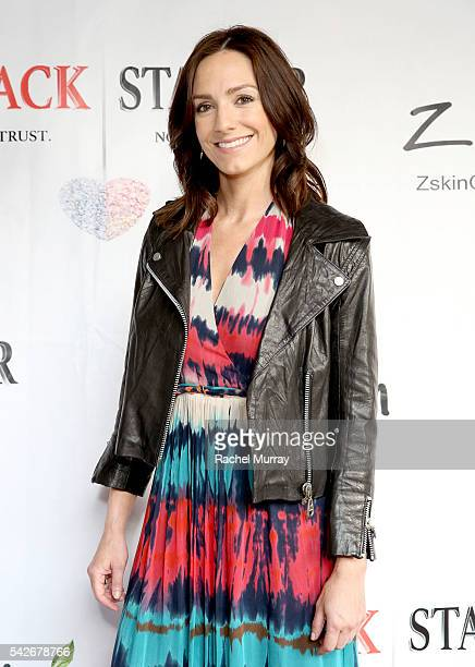Actress Karma McCain attends the red carpet premiere for the new Amazon series 'Back Stabber' at the Ambrose Boutique Hotel on June 23 2016 in Santa...