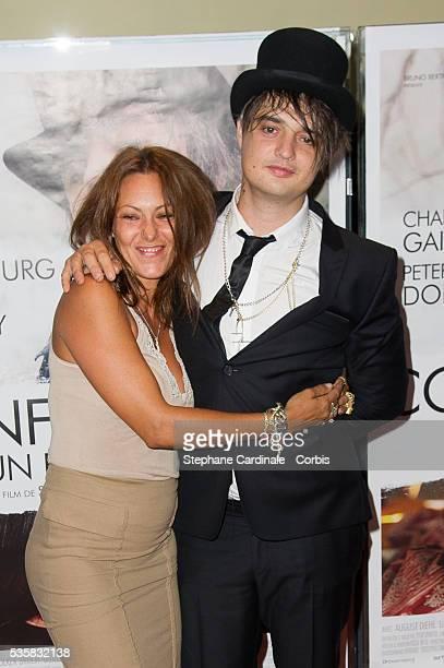 Actress Karole Rocher and actor Pete Doherty attend the Confessions D'un Enfant Du Siecle Premiere at UGC Cine Cite des Halles in Paris
