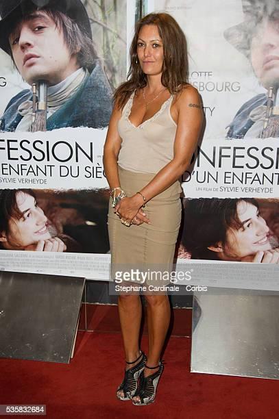 Actress Karole Rocher attends the Confessions D'un Enfant Du Siecle Premiere at UGC Cine Cite des Halles in Paris