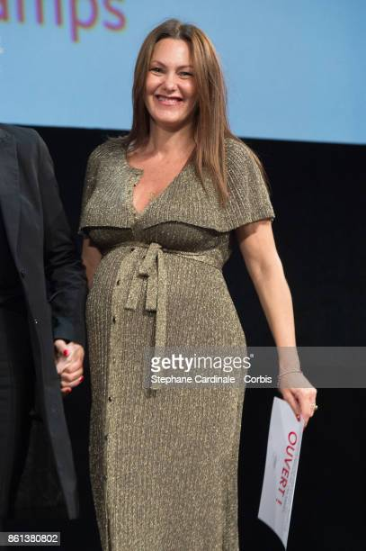 Actress Karole Rocher attends the Opening Ceremony of the 9th Film Festival Lumiere on October 14 2017 in Lyon France