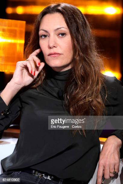 Actress Karole Rocher poses during a portrait session in Paris France on