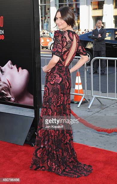 Actress Karolina Wydra arrives at HBO's 'True Blood' Final Season Premiere at TCL Chinese Theatre on June 17 2014 in Hollywood California