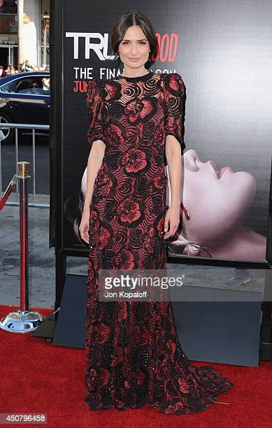 """Actress Karolina Wydra arrives at HBO's """"True Blood"""" Final Season Premiere at TCL Chinese Theatre on June 17, 2014 in Hollywood, California."""