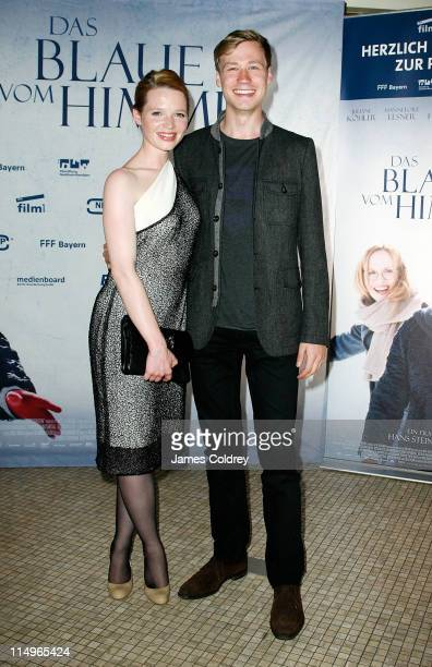 Actress Karoline Herfurth and Actor David Kross attend the 'Das Blaue von Himmel' premiere at Astor Film Lounge on May 31 2011 in Berlin Germany