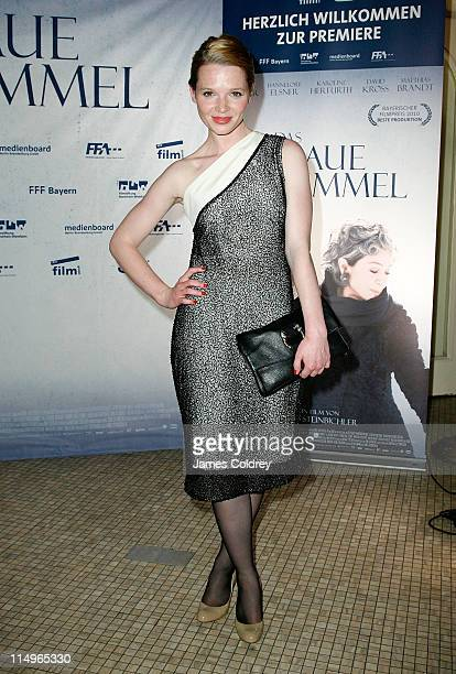 Actress Karoline Herfurth attends the 'Das Blaue von Himmel' premiere at Astor Film Lounge on May 31 2011 in Berlin Germany