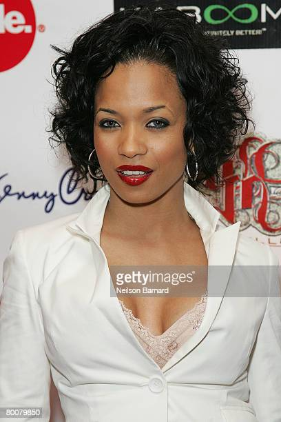 Actress Karrine Steffans attends the Niecy Nash Birthday Soiree at The Cabana Club on March 1 2008 in Hollywood California