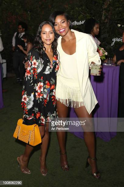 Actress Karrueche Tran and Actress Gabrielle Union attend Hallmark's When You Care Enough to Put It Into Words Launch Event on July 30 2018 in Los...