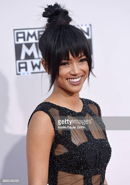 Actress Karrueche Tran arrives at the 2015 American Music Awards at Microsoft Theater on November 22 2015 in Los Angeles California