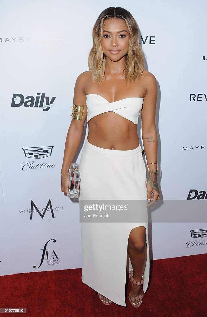 Actress Karrueche Tran arrives at The Daily Front Row 'Fashion Los Angeles Awards' 2016 at Sunset Tower Hotel on March 20, 2016 in West Hollywood, California.