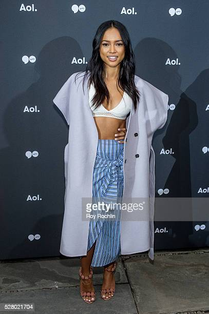 Actress Karrueche Tran attends AOL Newfront on May 3 2016 in New York City