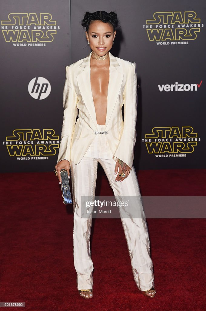 Actress Karrueche Tran attends Premiere of Walt Disney Pictures and Lucasfilm's 'Star Wars: The Force Awakens' on December 14, 2015 in Hollywood, California.